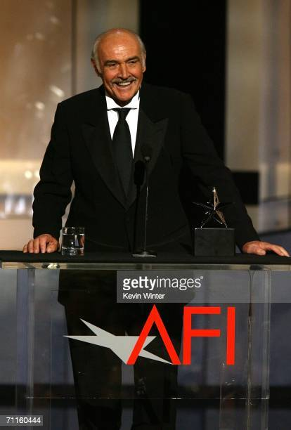 Actor Sean Connery accepts his award onstage during the 34th AFI Life Achievement Award tribute to Sir Sean Connery held at the Kodak Theatre on June...