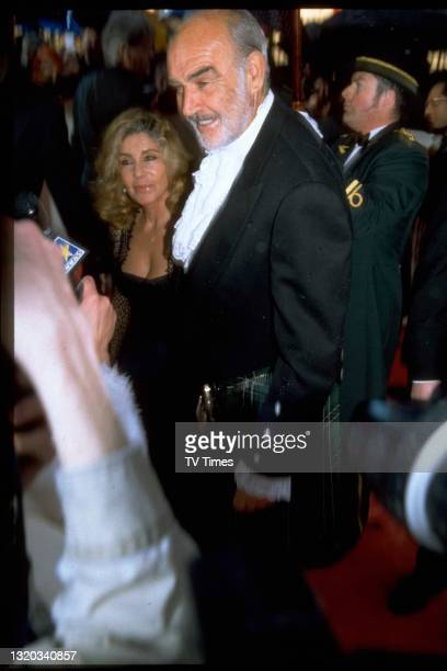 Actor Sean Connery and his wife Micheline Roquebrune at the BAFTA Film Awards, circa 1998.