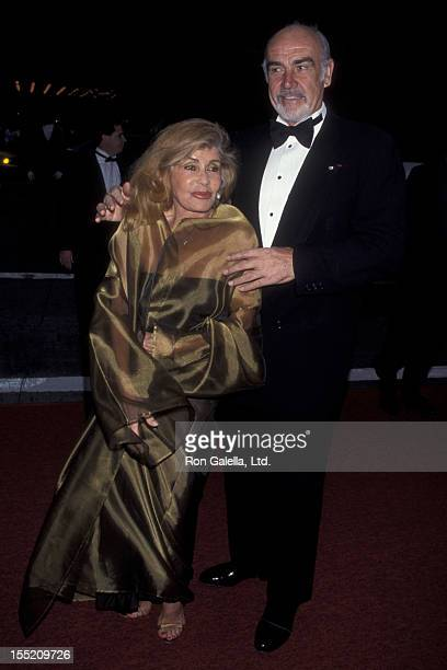 Actor Sean Connery and wife Micheline Connery attend 52nd Annual Tony Awars on June 7 1998 at Radio City Music Hall in New York City