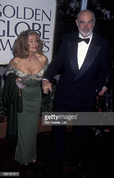 Actor Sean Connery and wife Micheline Connery attend 53rd Annual Golden Globe Awards on November 21 1996 at the Beverly Hilton Hotel in Beverly Hills...