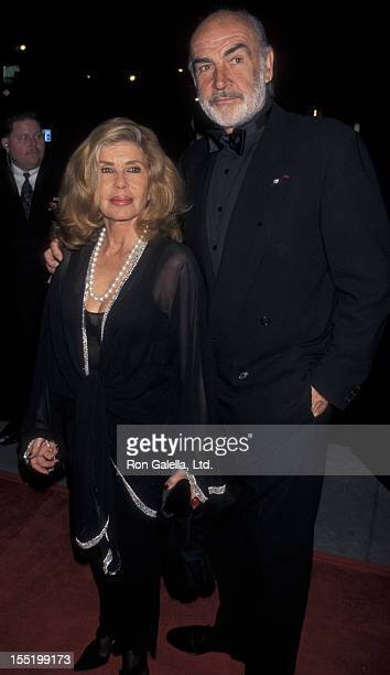 Actor Sean Connery and wife Micheline Connery attend 75th Anniversary Celebration for Time Magazine on March 3 1998 at Radio City Music Hall in New...