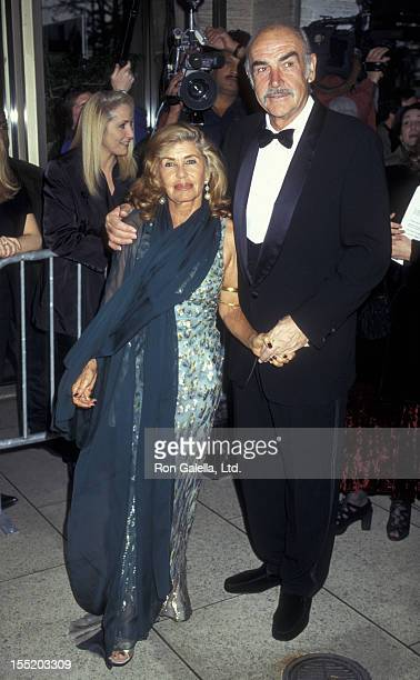 Actor Sean Connery and wife Micheline Connery attend Film Society of Lincoln Center Gala Honoring Sean Connery on May 5 1997 at Avery Fisher Hall in...