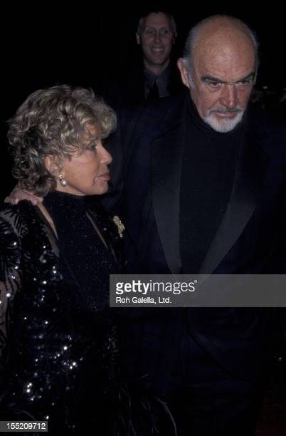 Actor Sean Connery and wife Micheline Connery attend Nortel International Film Festival on January 13 2001 at the Palm Springs Convention Center in...