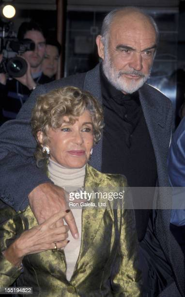 Actor Sean Connery and wife Micheline Connery attend the opening of Art on January 19 1999 at the Doolittle Theater in Hollywood California