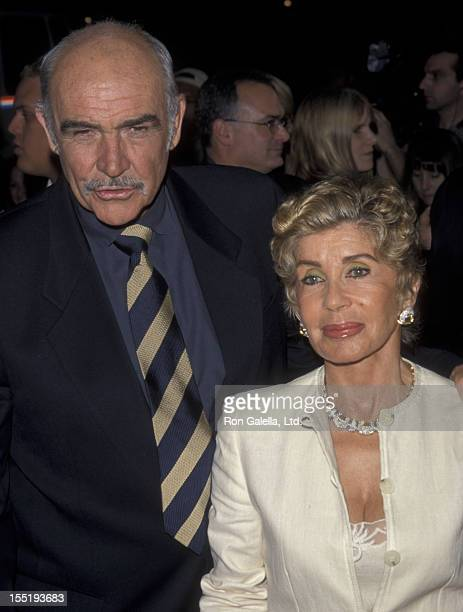 Actor Sean Connery and wife Micheline Connery attend the premiere of Entrapment on April 15 1999 at Mann Chinese Theater in Hollywood California