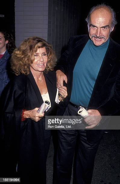 Actor Sean Connery and wife Micheline Connery attend the premiere of Waiting For Godot on November 6 1988 at Lincoln Center in New York City