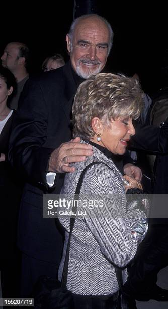 Actor Sean Connery and wife Micheline Connery attend the premiere of Finding Forrester on December 1 2000 at the Academy Theater in Beverly Hills...