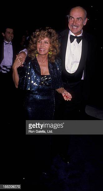 Actor Sean Connery and wife Micheline Connery attend the premiere of Russian House on December 4 1990 at the Cinerama Dome Theater in Hollywood...