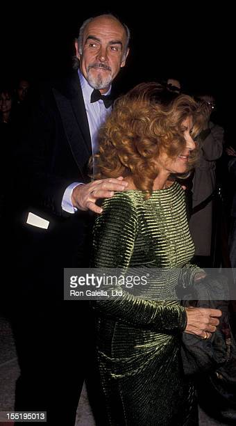 Actor Sean Connery and wife Micheline Connery attend the premiere party for Family Business on December 13 1989 at the Century Plaza Hotel in Century...