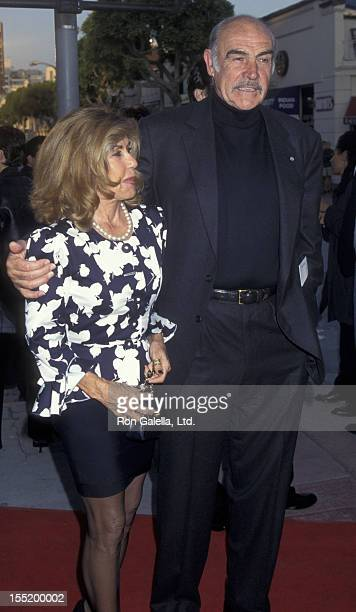 Actor Sean Connery and wife Micheline Connery attend the world premiere of Dragonheart on May 28 1996 at Mann Village Theater in Westwood California