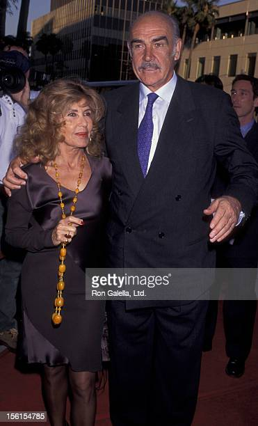 Actor Sean Connery and wife Micheline Connery attend the world premiere of 'First Knight' on June 19 1995 at the Academy Theater in Beverly Hills...