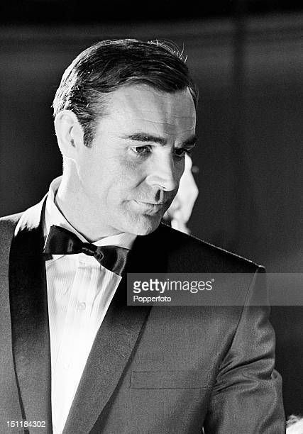 Actor Sean Connery as James Bond during the filming of 'Thunderball' circa 1965
