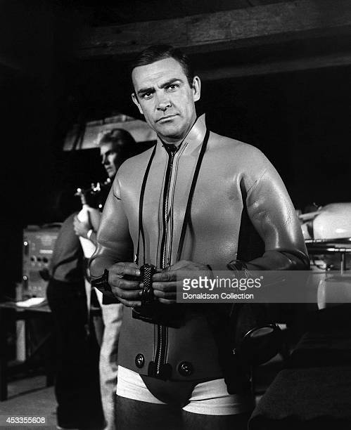 Actor Sean Connery as James Bond in a scene from the United Artists film 'Thunderball' in 1965