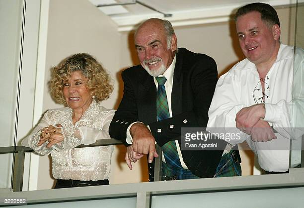 Actor Sean Connery his wife Micheline and Scottish First Minister Jack McConnell attend the Dressed To Kilt fashion show celebrating Tartan Week and...