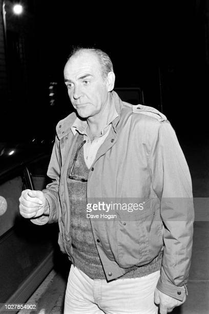 Actor Sean Connery is seen at Langan's Restaurant in 1987 London