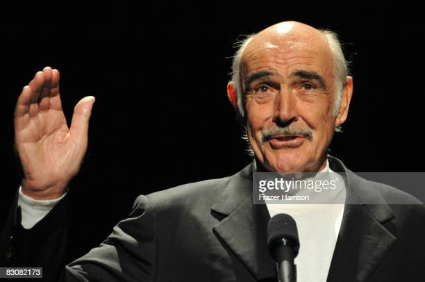 Actor Sean Connery presents during AFI's Night At The Movies presented by Target held at ArcLight Cinemas on October 1, 2008 in Hollywood, California.