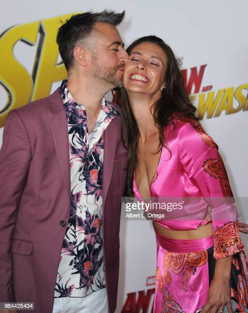 Actor Sean Gunn and actress Natasha Halevi arrive for the Premiere Of Disney And Marvel's AntMan And The Wasp held at the El Capitan Theater on June...