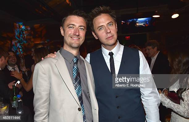 """Actor Sean Gunn and director James Gunn attend the after party for The World Premiere of Marvel's epic space adventure """"Guardians of the Galaxy""""..."""