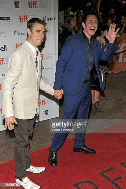 Actor Sean Gunn and director James Gunn attend the Super Premiere held at Ryerson Theatre during the 35th Toronto International Film Festival on...