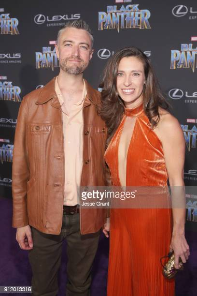 Actor Sean Gunn and Natasha Halevi at the Los Angeles World Premiere of Marvel Studios' BLACK PANTHER at Dolby Theatre on January 29 2018 in...