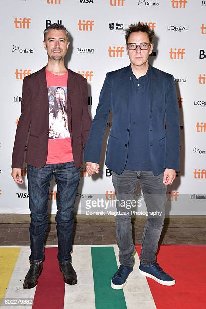 Actor Sean Gunn and producer James Gunn attend 'The Belko Experiment' premiere during the 2016 Toronto International Film Festival at the Ryerson...