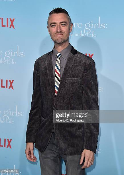 Actor Sean Gunn attends the premiere of Netflix's 'Gilmore Girls A Year In The Life' at the Regency Bruin Theatre on November 18 2016 in Los Angeles...