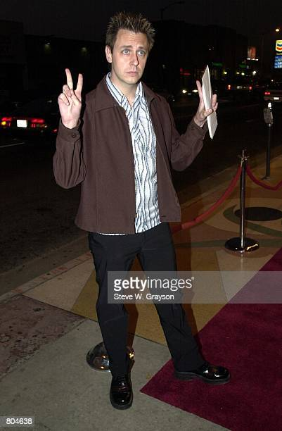 Actor Sean Gunn poses for photographers at the premiere of The Specials at The Regent Showcase Theater September 17 2000 in Los Angeles California