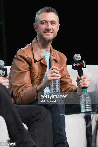 Actor Sean Gunn speaks on stage during Emerald City Comic Con at Washington State Convention Center on March 3 2017 in Seattle Washington