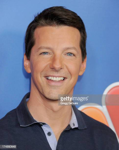 Actor Sean Hayes arrives at the 2013 NBC Television Critics Association's Summer Press Tour at The Beverly Hilton Hotel on July 27 2013 in Beverly...