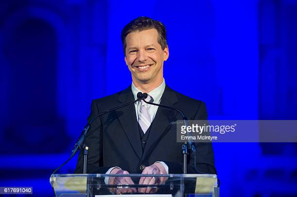 Actor Sean Hayes attends the 12th Annual Outfest Legacy Awards at Vibiana on October 23 2016 in Los Angeles California