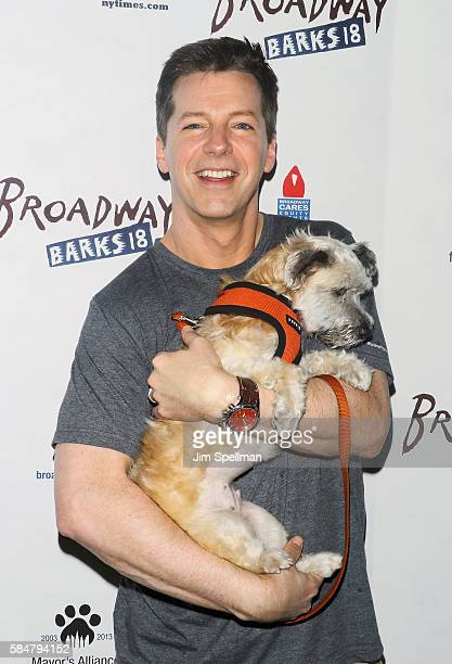 Actor Sean Hayes attends the 18th Annual Broadway Barks at Shubert Alley on July 30 2016 in New York City