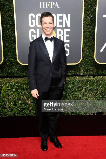 Actor Sean Hayes attends The 75th Annual Golden Globe Awards at The Beverly Hilton Hotel on January 7 2018 in Beverly Hills California
