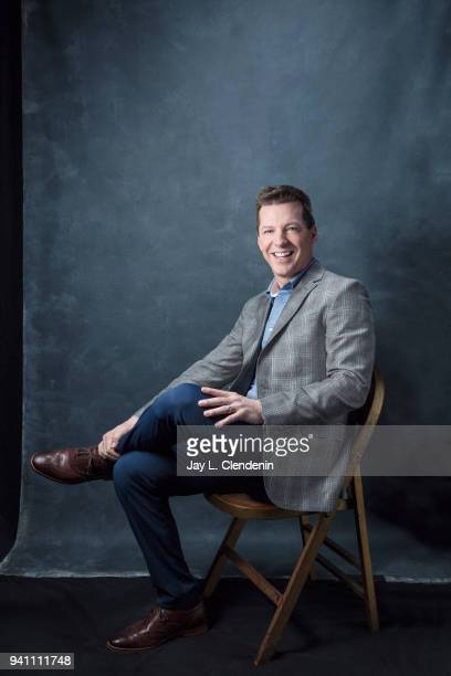 Actor Sean Hayes of 'Will and Grace' is photographed for Los Angeles Times on March 17 2018 at the PaleyFest at the Dolby Theatre in Hollywood...
