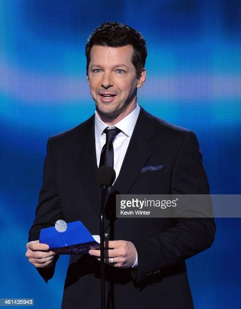 Actor Sean Hayes speaks onstage at The 40th Annual People's Choice Awards at Nokia Theatre LA Live on January 8 2014 in Los Angeles California