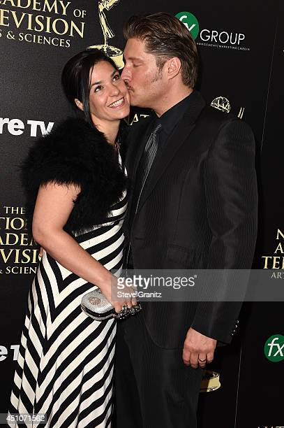 Actor Sean Kanan and Michele Vega attend The 41st Annual Daytime Emmy Awards at The Beverly Hilton Hotel on June 22 2014 in Beverly Hills California