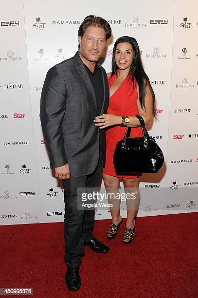 Actor Sean Kanan and Michele Vega attend the Star Magazine Scene Stealers Event at Lure on October 9 2014 in Los Angeles California