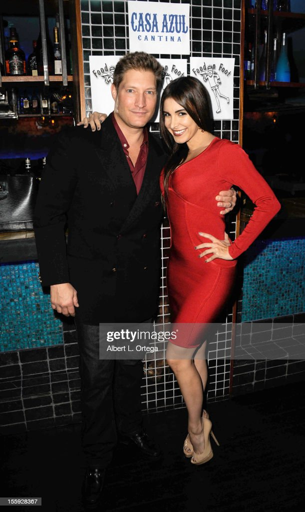 Actor Sean Kanan and model/singer Mayra Veronica participate in Food On Foot's 'Hot Latin Nights' held at Casa Azul Cantina on November 8, 2012 in Los Angeles, California.
