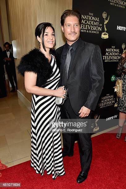 Actor Sean Kanan and producer Michele Vega attend The 41st Annual Daytime Emmy Awards at The Beverly Hilton Hotel on June 22 2014 in Beverly Hills...