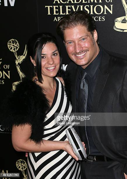 Actor Sean Kanan and wife Michele Vega attend the 41st Annual Daytime Emmy Awards at The Beverly Hilton Hotel on June 22 2014 in Beverly Hills...