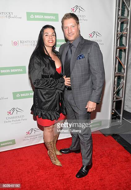 Actor Sean Kanan and wife Michele Vega attend the 7th Annual Unbridled Eve Derby Prelude Party at The London West Hollywood on January 7 2016 in West...