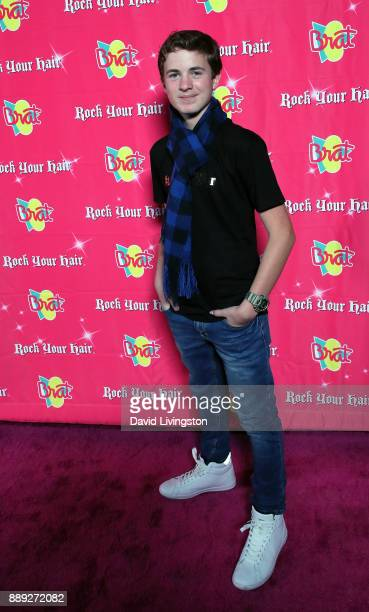 Actor Sean Leo attends social media influencer Annie LeBlanc's 13th birthday party at Calamigos Beach Club on December 9 2017 in Malibu California