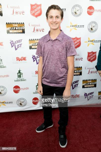 Actor Sean Leo attends The Salvation Army Celebrity Kettle Kickoff Red Kettle Hollywood at the Original Farmers Market on November 30 2017 in Los...