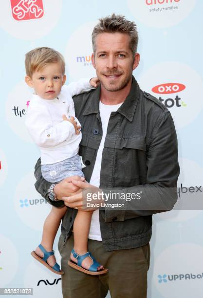 Actor Sean Maguire and Flynn Maguire attend the 6th Annual Celebrity Red CARpet Safety Awareness Event at Sony Studios Commissary on September 23...