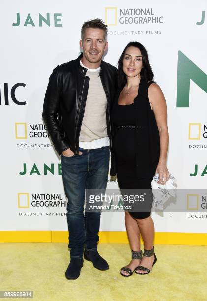 Actor Sean Maguire and Tanya Flynn arrive at the premiere of National Geographic Documentary Films' 'Jane' at the Hollywood Bowl on October 9 2017 in...