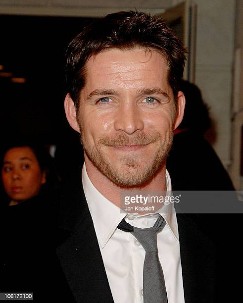 Actor Sean Maguire arrives at the Los Angeles Premiere 'Meet The Spartans' at the Festival Theater on January 23 2008 in Westwood California