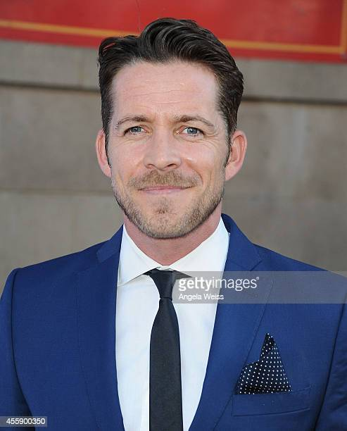 """Actor Sean Maguire attends ABC's """"Once Upon A Time"""" Season 4 red carpet premiere at the El Capitan Theatre on September 21, 2014 in Hollywood,..."""