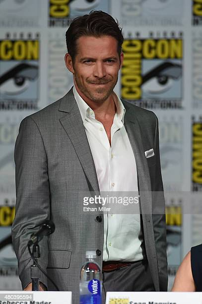 Actor Sean Maguire attends the 'Once Upon a Time' panel during ComicCon International 2015 at the San Diego Convention Center on July 11 2015 in San...