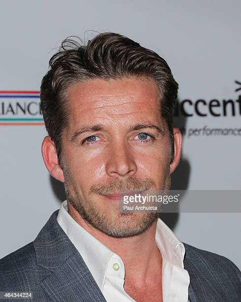 Actor Sean Maguire attends the USIreland Alliance PreAcademy Awards Honors event at Bad Robot on February 19 2015 in Santa Monica California