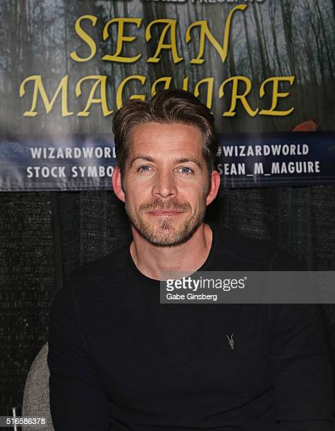 Actor Sean Maguire attends Wizard World Las Vegas at the Las Vegas Convention Center on March 19 2016 in Las Vegas Nevada