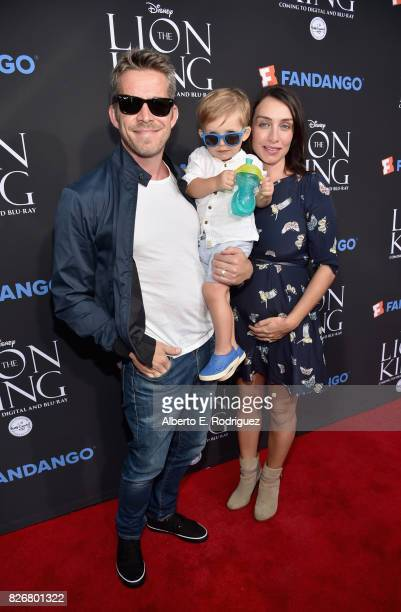 Actor Sean Maguire Flynn Patrick Maguire and Tanya Flynn at The Lion King SingAlong at The Greek Theatre in Los Angeles in celebration of the inhome...